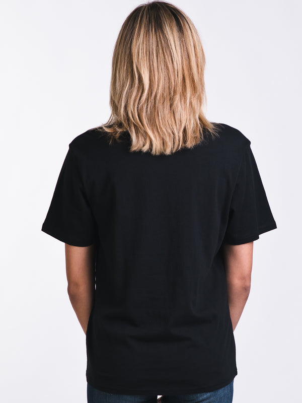 WOMENS LOGO SHORT SLEEVE CREWNECK - BLACK