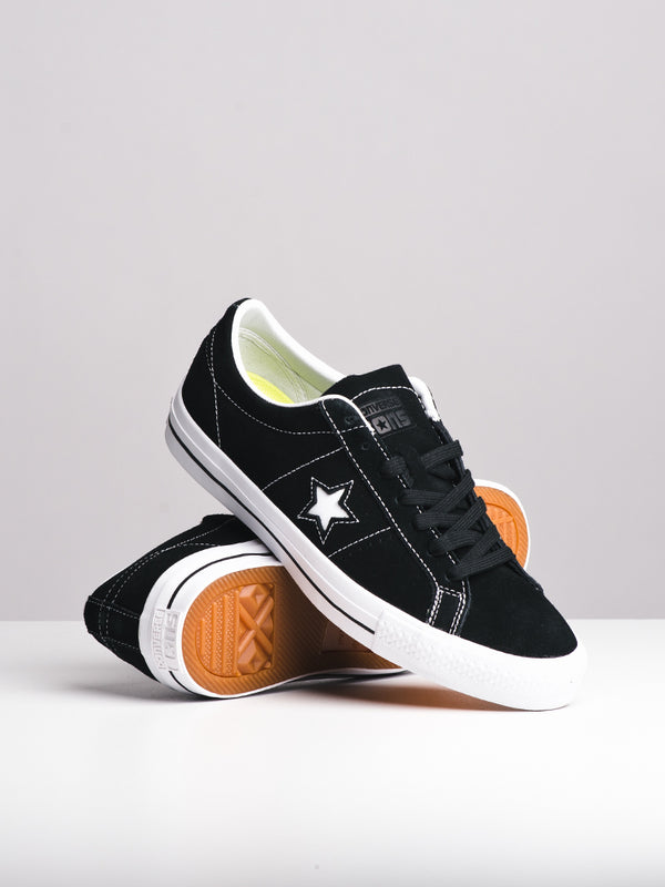 MENS ONE STAR PRO BLACK/WHITE SNEAKERS