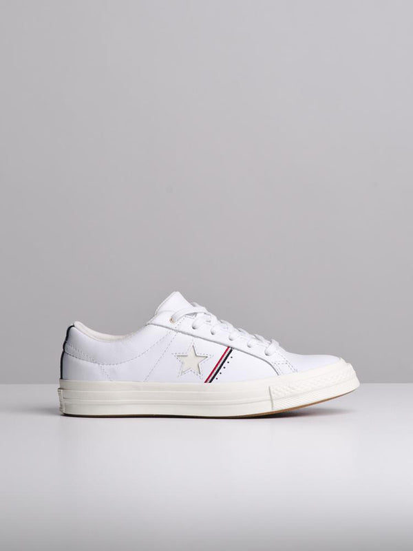 WOMENS ONE STAR WHITE/ENAMEL RED SNEAKERS- CLEARANCE