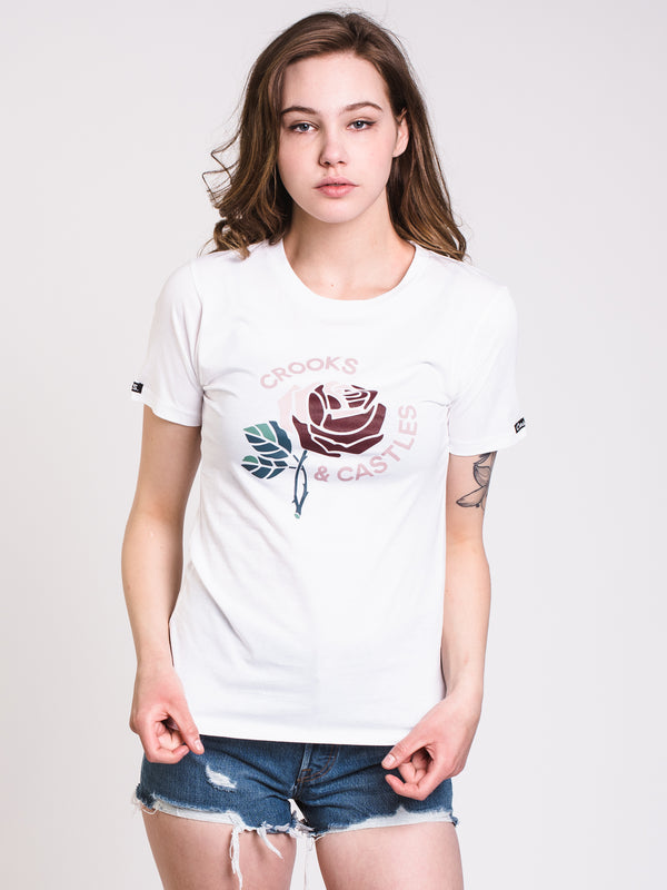 WOMENS SCENT OF CROOKS SHORT SLEEVE TEE - WHT