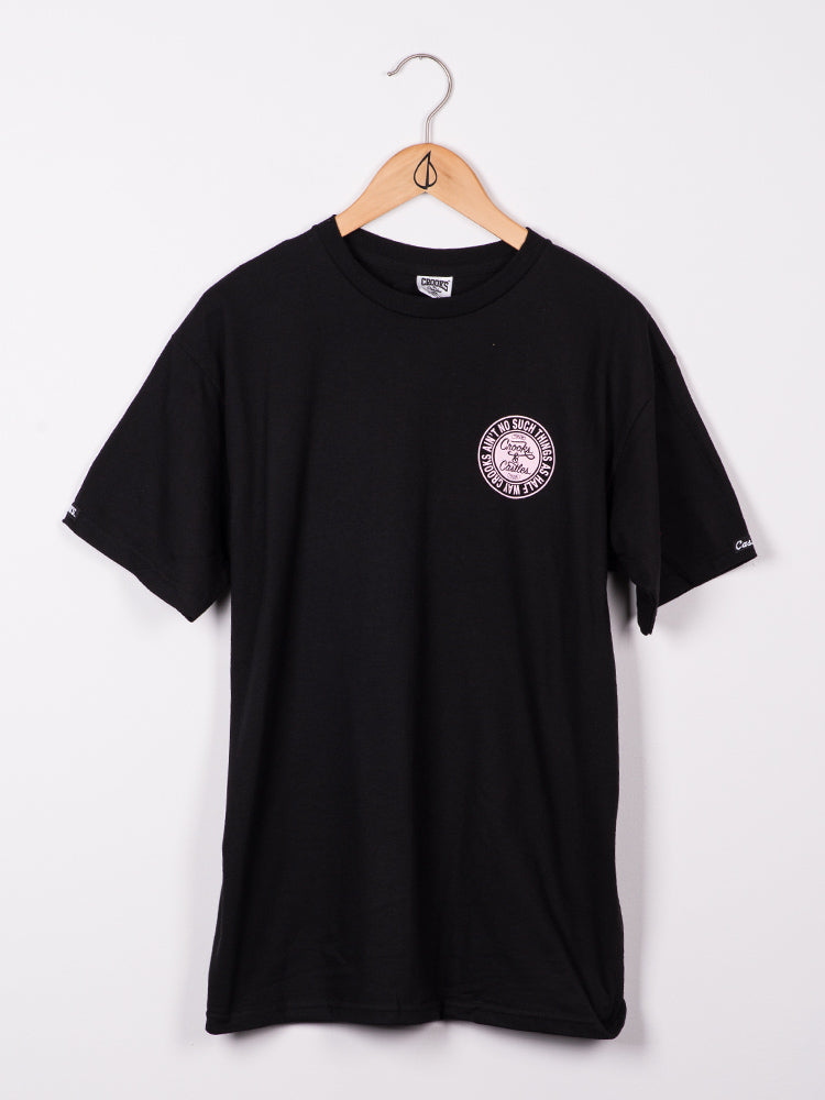MENS AIN'T NO SUCH S/S T - BLK/PNK - CLEARANCE
