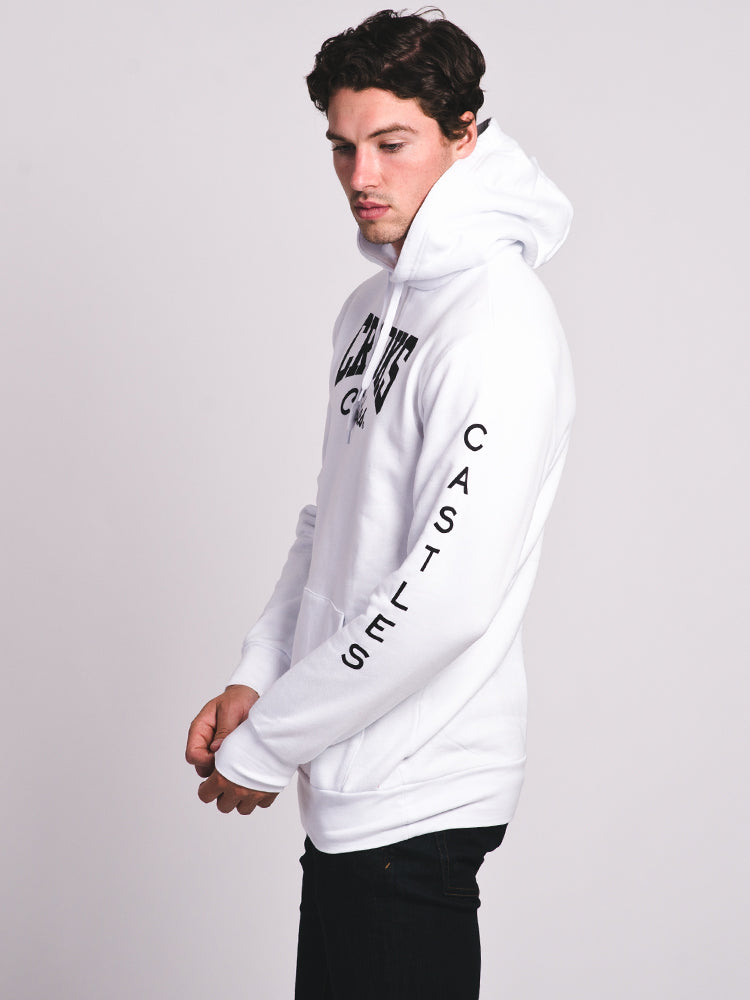 MENS BANDUSA PULLOVER HOODIE - WHITE - CLEARANCE