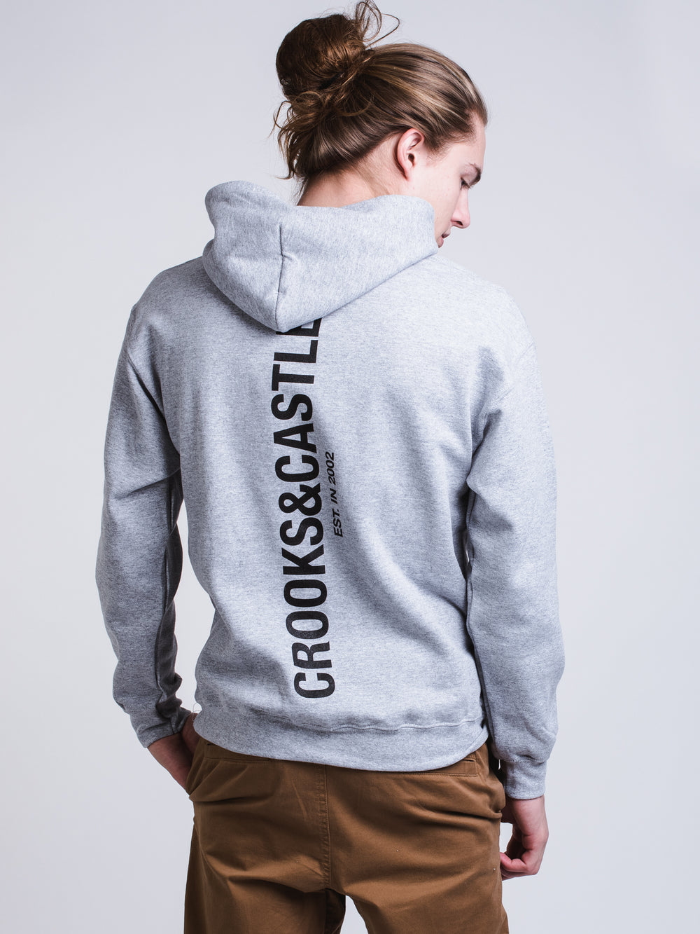 MENS SLICED CROOKS PULLOVER HOODIE - GREY