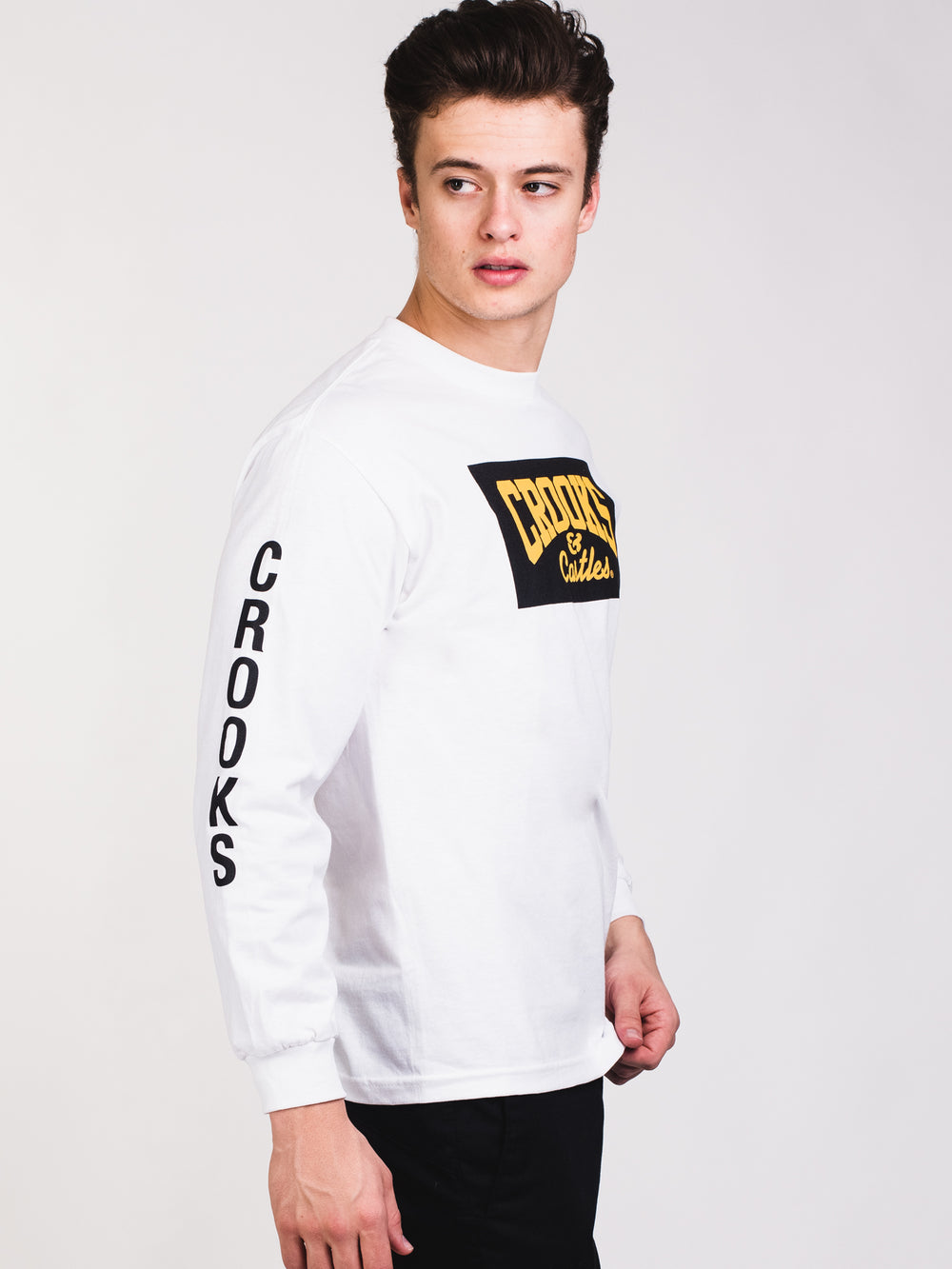 MENS C-LINK LONG SLEEVE T - WHT
