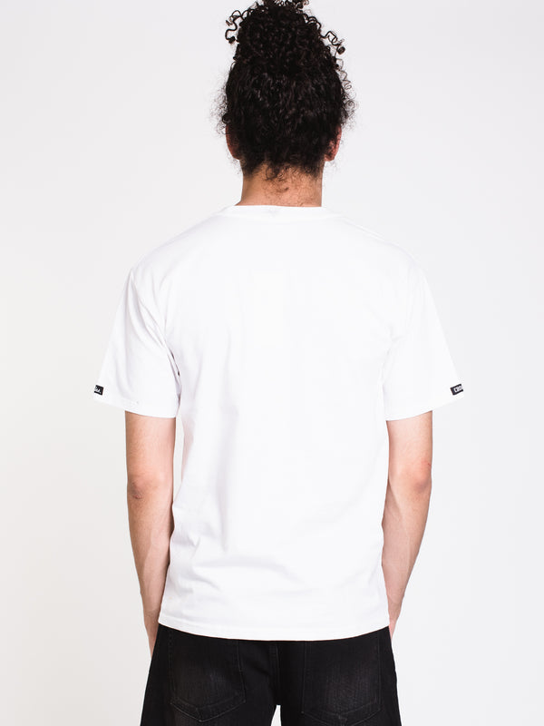 MENS SLICED SHORT SLEEVE T-SHIRT - WHITE