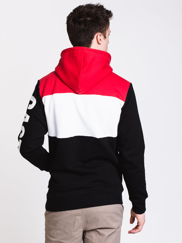 MENS ATHLETIC BLOCK Pullover HOODIE - R/B
