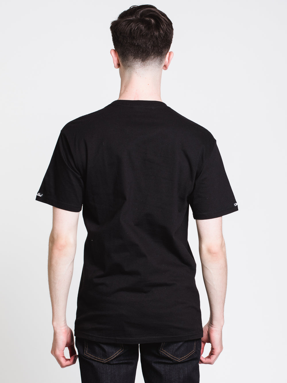 MENS TRIANGLE CHAIN SHORT SLEEVE T-SHIRT - BLACK
