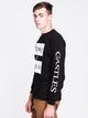 MENS DIS KLEPTO 19 LONG SLEEVET-SHIRT- BLACK