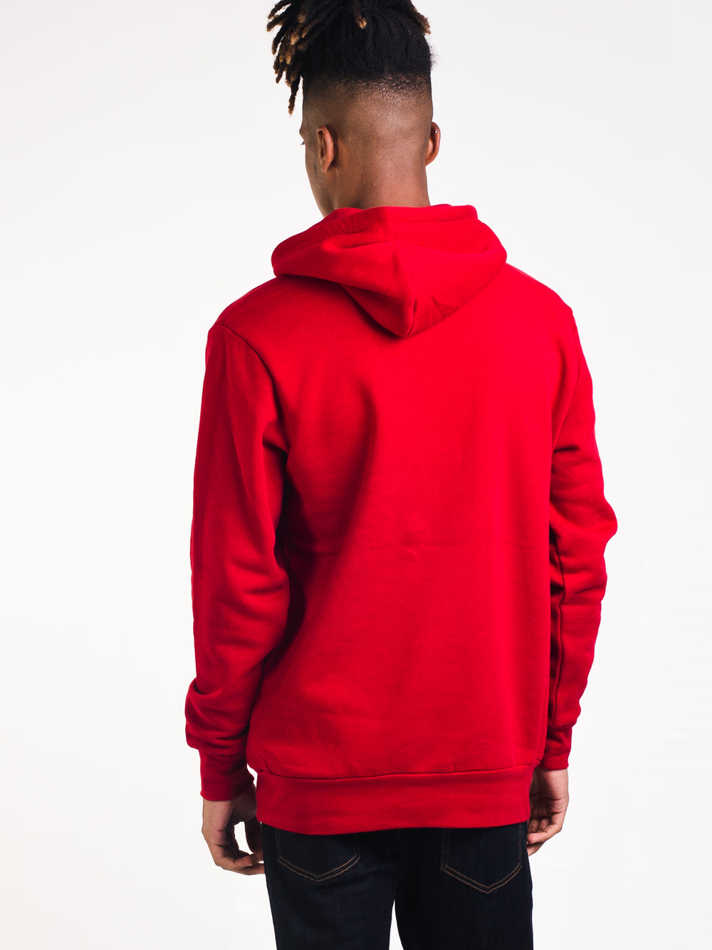 MENS COLLEGE PULLOVER HOODIE- RED