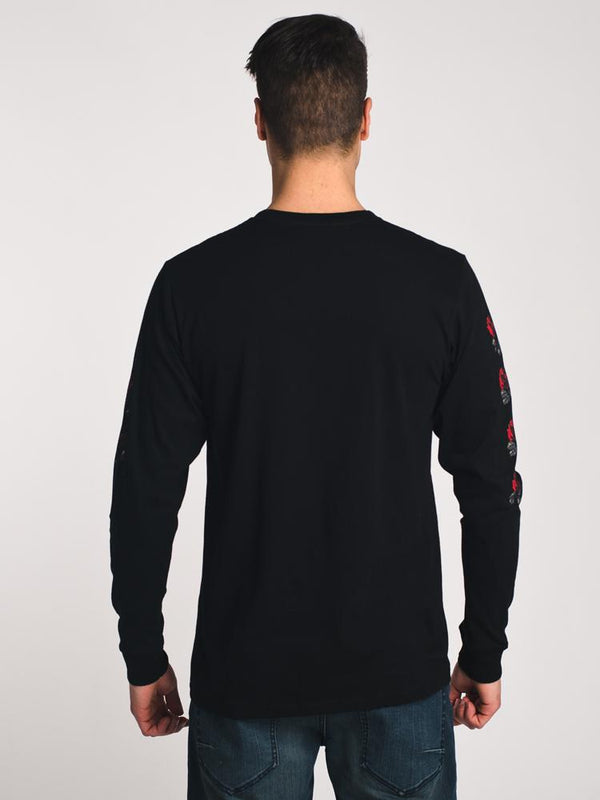 MENS ROSES LONG SLEEVE T SHIRT