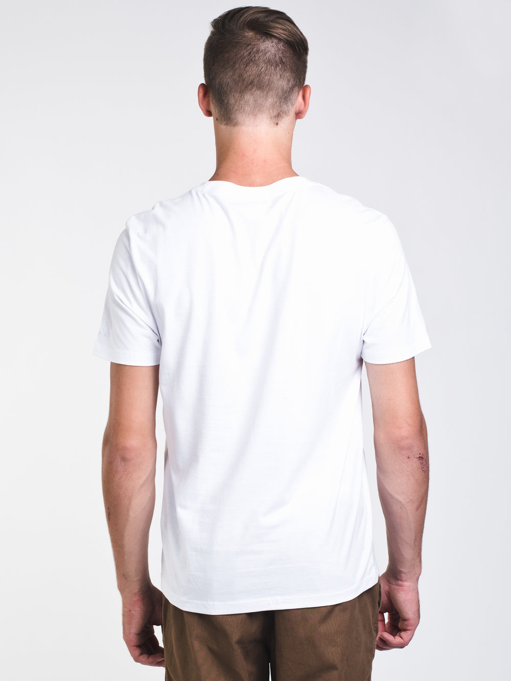 MENS BL SHORT SLEEVE T-SHIRT - WHITE/BLUE - CLEARANCE