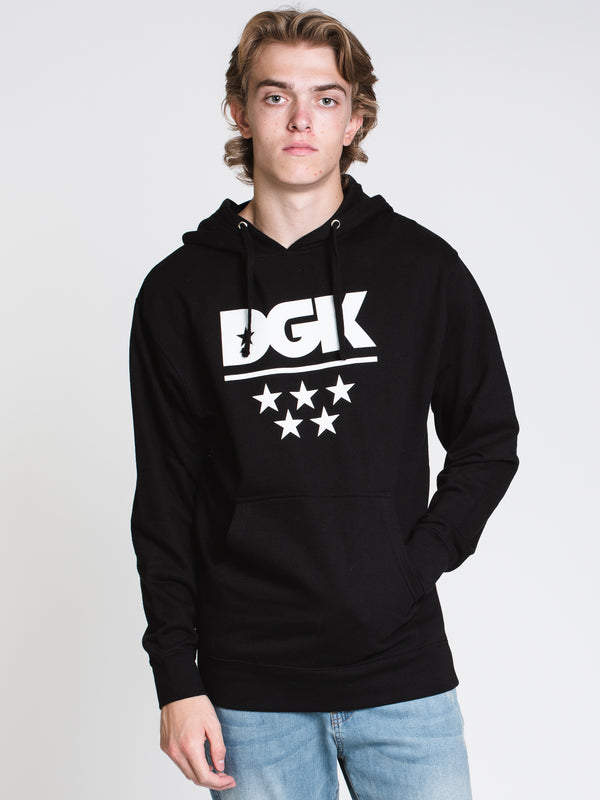 MENS DGK ALL STAR PULLOVER HOODIE- BLACK