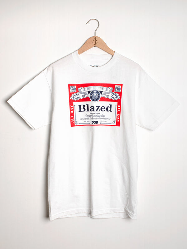 MENS DGK BLAZED SHORT SLEEVET-SHIRT- WHT