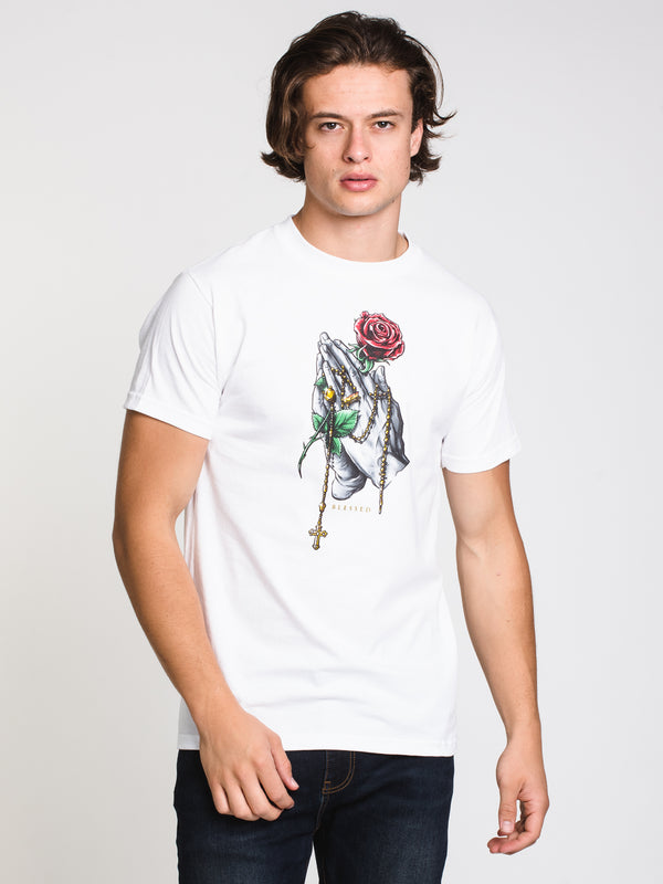MENS ROSARY T - WHITE