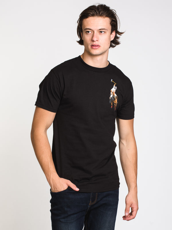 MENS HOOD LEAGUE T - BLACK