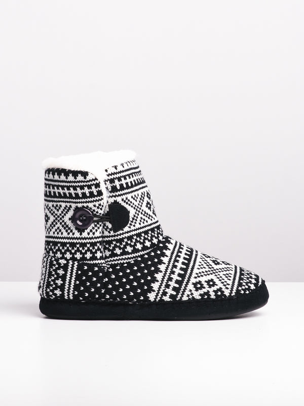WOMENS BONNIE - BLACK/WHITE-D5 - CLEARANCE