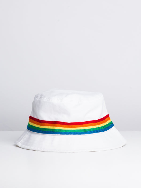 RASTA BUCKET HAT - WHITE