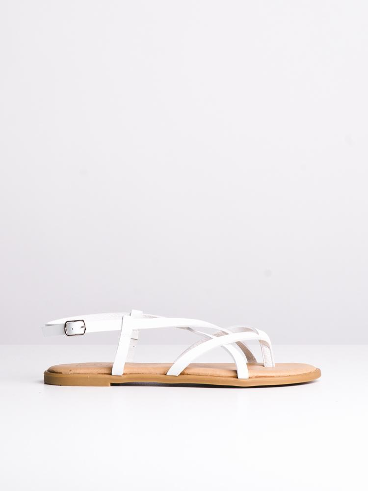 WOMENS ALLEGRA WHITE SANDALS- CLEARANCE