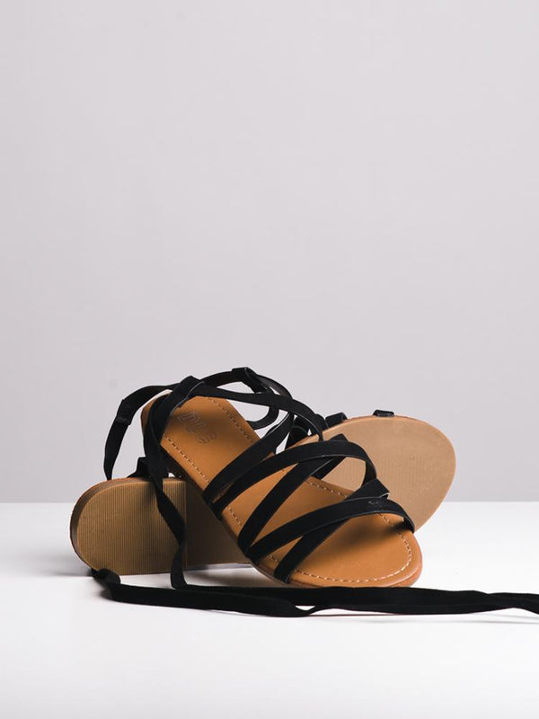 WOMENS NOLA BLACK SANDALS- CLEARANCE