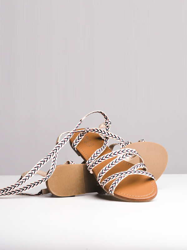 WOMENS NOLA NAVY SANDALS- CLEARANCE