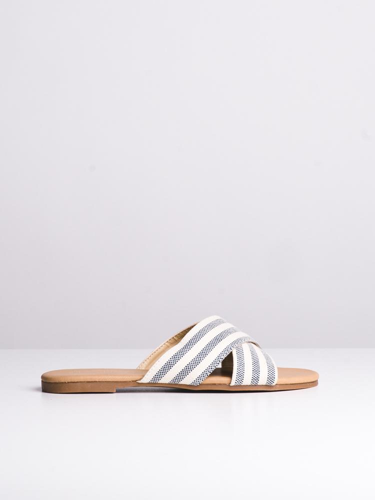 WOMENS JESSA WHITE/BLUE SANDALS- CLEARANCE