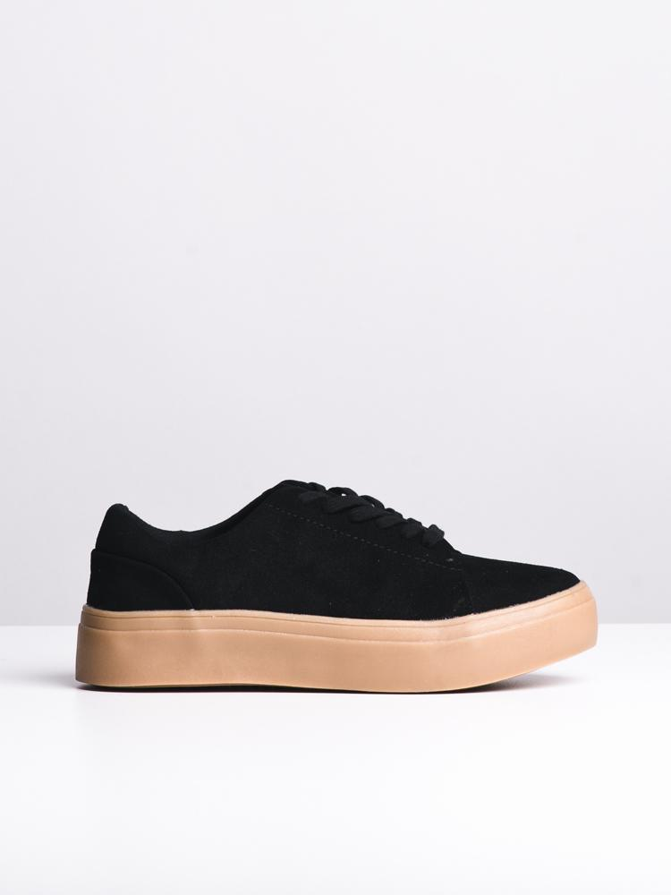 WOMENS KENNEDY BLACK SUEDE SNEAKERS- CLEARANCE