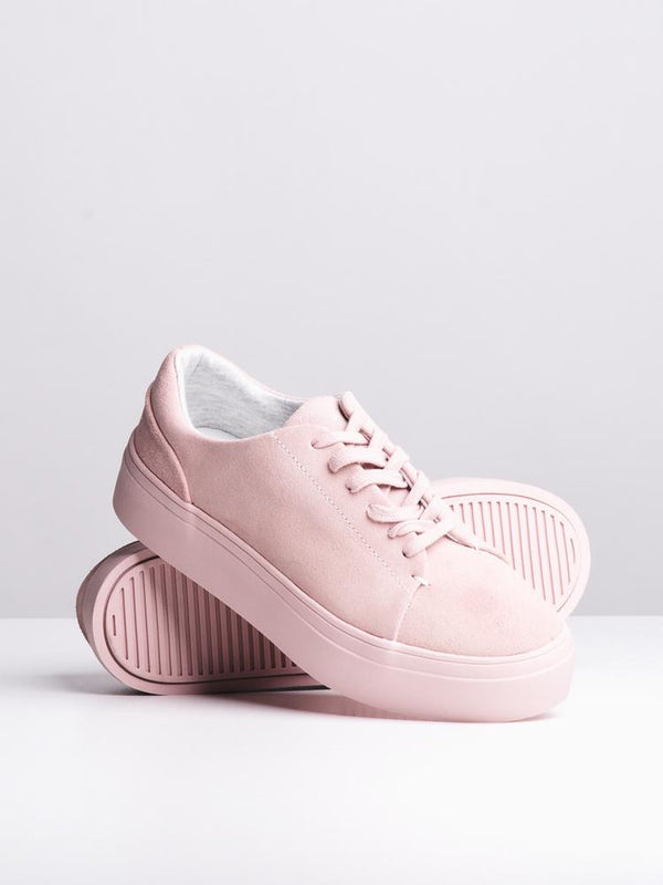 WOMENS KENNEDY PINK SUEDE SNEAKERS- CLEARANCE