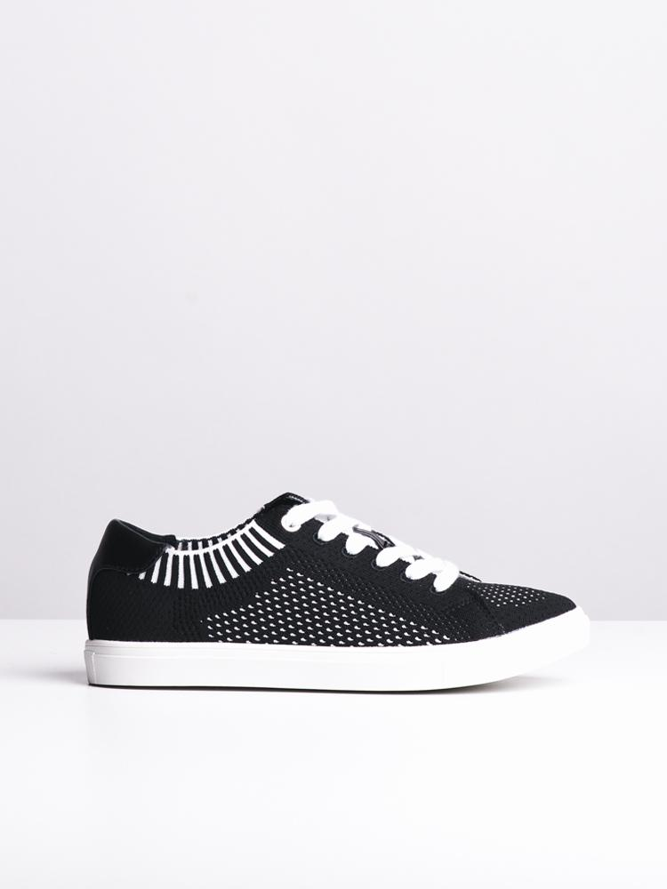 WOMENS ALEXA BLACK/WHITE CANVAS SHOES