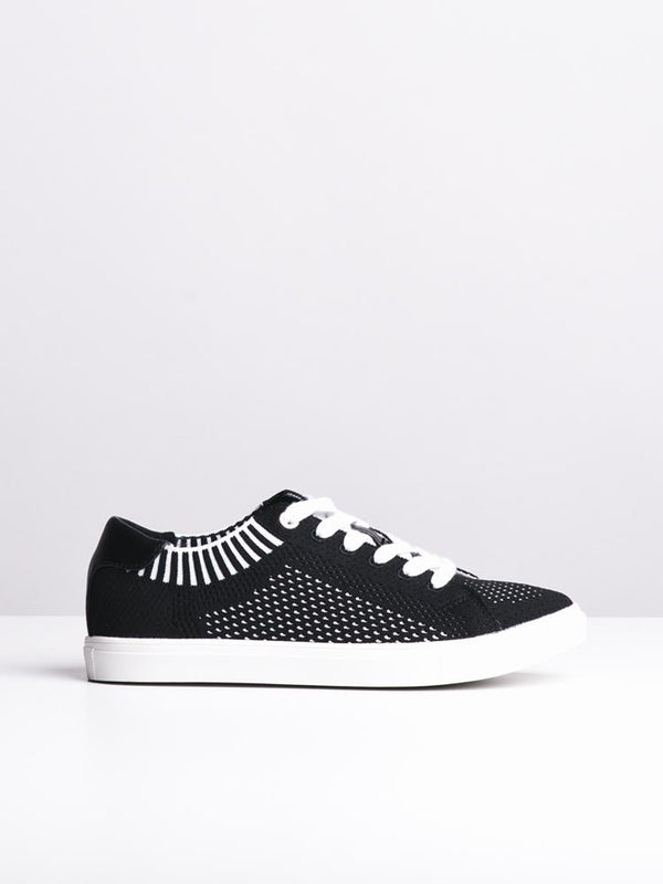 WOMENS ALEXA BLACK/WHITE CANVAS SHOES- CLEARANCE