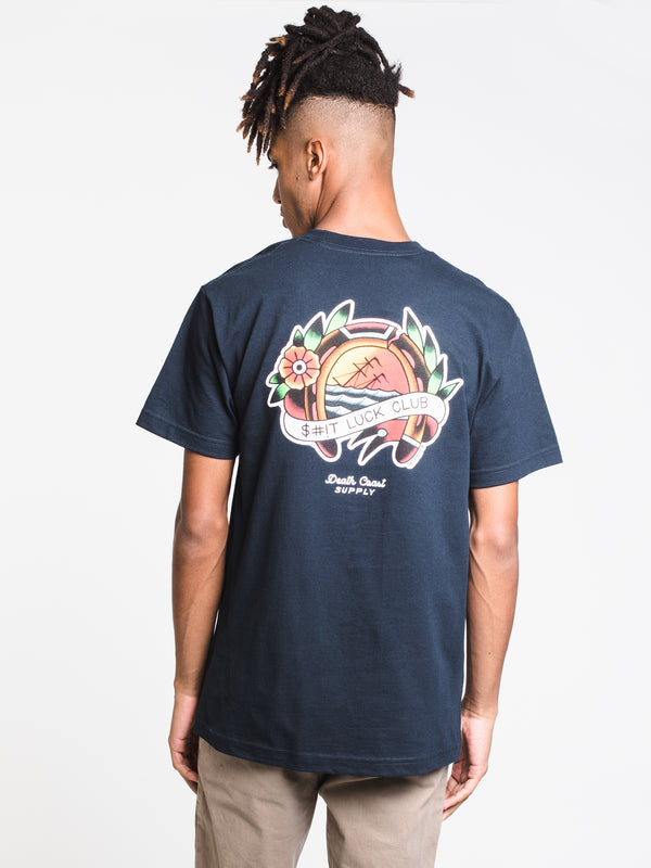 MENS LUCK S/S T - NAVY