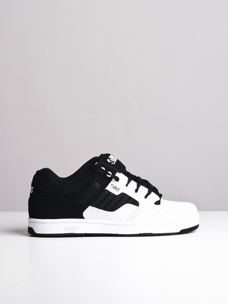 MENS ENDURO 125 WHT/BLK LEATHER SNEAKERS