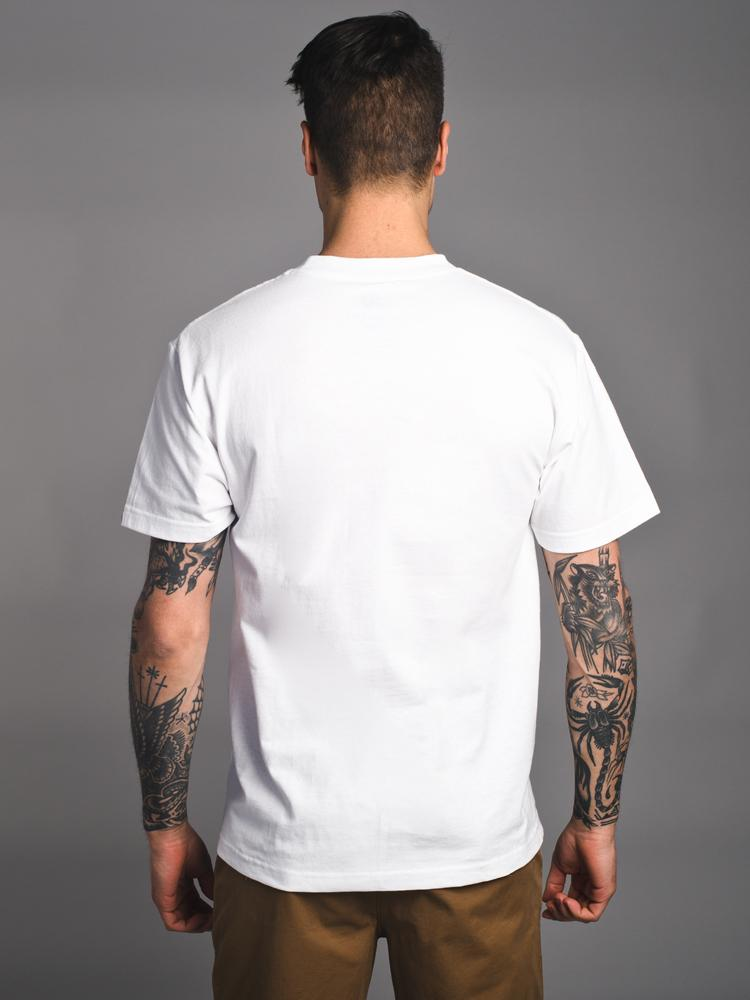 MENS COED SHORT SLEEVE T-SHIRT - WHITE-WL- CLEARANCE