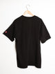 MENS PRIMO FLAG CREST SHORT SLEEVET-SHIRT- BLACK