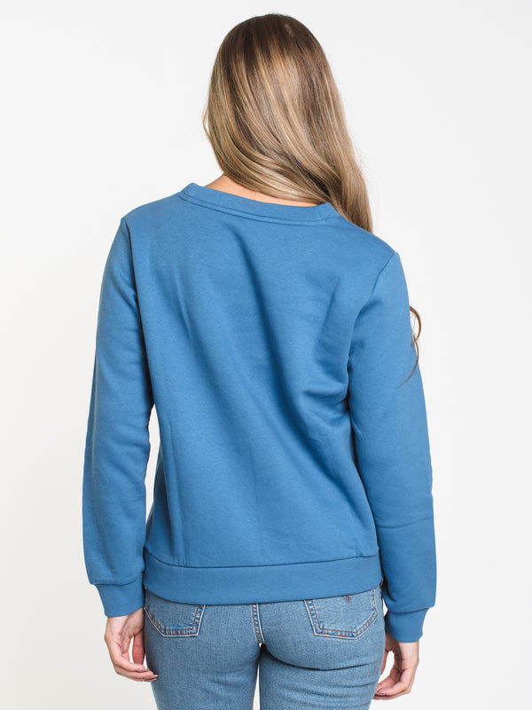 WOMENS VINTAGE CREW - BRIGHT BLUE
