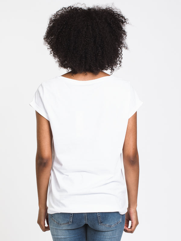 WOMENS VINTAGE SCOOP SHORT SLEEVE T-SHIRT - WHITE