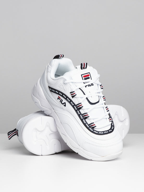 WOMENS FILA RAY REPEAT - WHT/NVY/RED