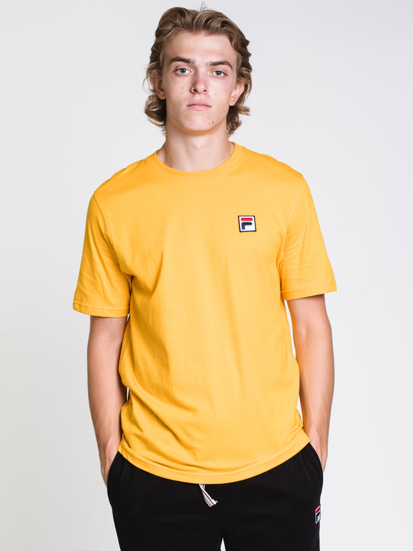 MENS THE F BOX SHORT SLEEVET-SHIRT- GOLD