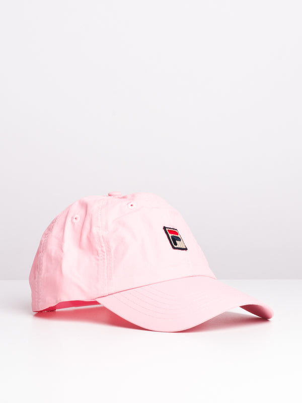 MATTE NYLON DAD CAP - PINK - CLEARANCE