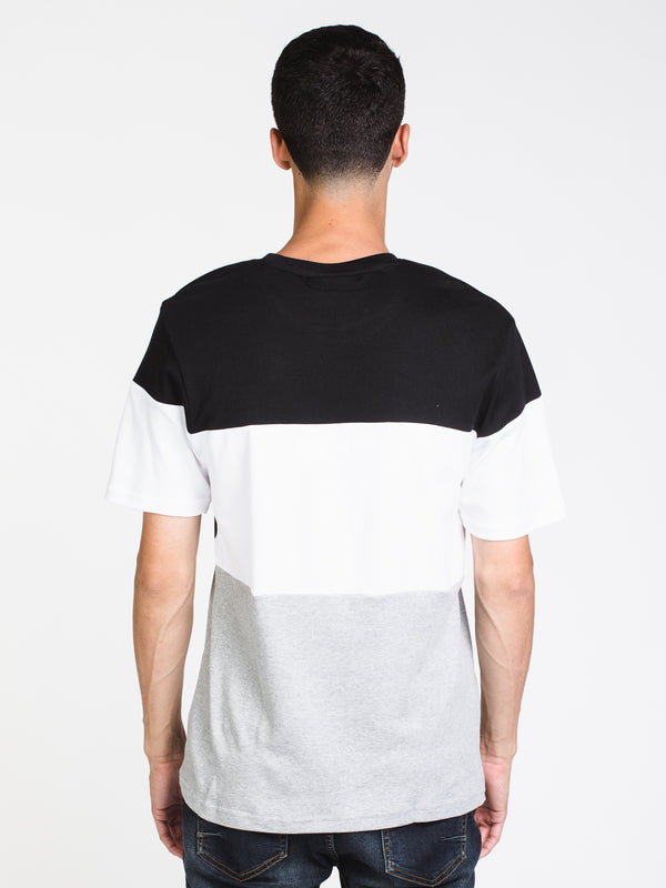 MENS VIALLI SHORT SLEEVE T-SHIRT- BLACK/GREY