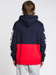 MENS MARZIO Pullover HOOD - NAVY/RED