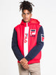 MENS P1 FILA TECH JACKET - RED/NAVY