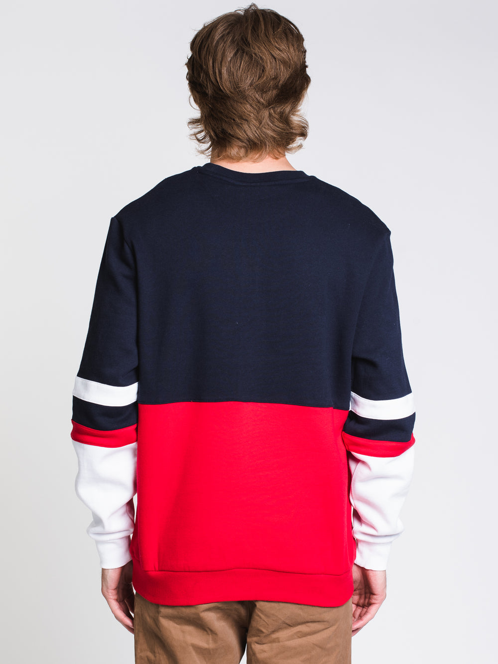 MENS FREDDIE SWTSHRT - NAVY/RED