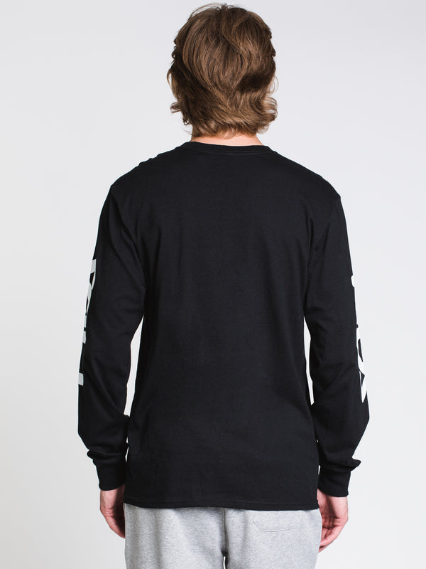 MENS CHEZ LONG SLEEVET-SHIRT- BLACK/WHITE/GOLD