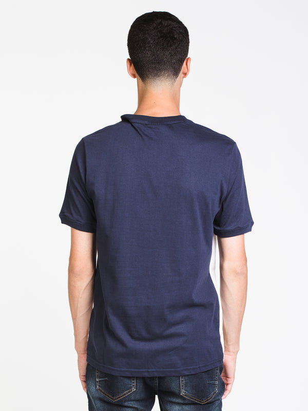 MENS CONTE SHORT SLEEVE T-SHIRT- NAVY/WHITE