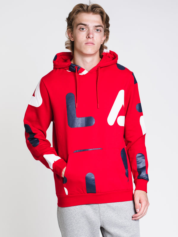 MENS VITTORIO PULLOVER HOODIE- RED