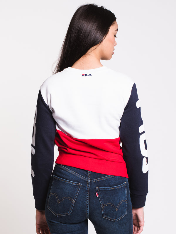 WOMENS STACY SWEATSHIRT - WHITE/NAVY