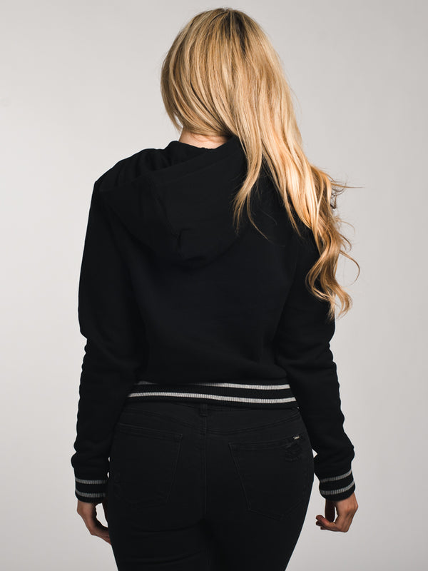 WOMENS ROSEMARY HOODIE - BLACK/GREY