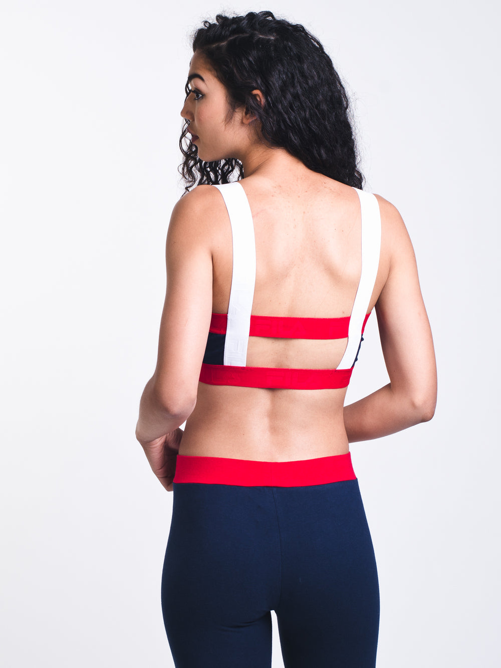 WOMENS STELLA BRALETTE - RED/NAVY