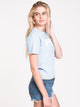 WOMENS BOXY SHORT SLEEVE TEE - BLUE