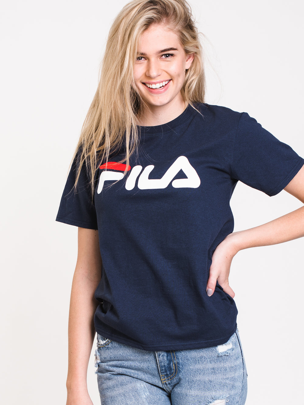 WOMENS BOXY SHORT SLEEVE TEE - NAVY